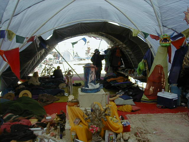 John Gilmore Andy Hook And The Other Hacker Types Were In A Camp Called Oregon County Fair Heres Shot From Inside Their Rather Cool Tent